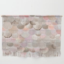 MERMAID SHELLS - CORAL ROSEGOLD Wall Hanging