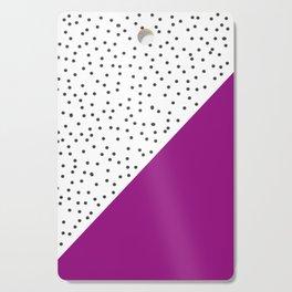 Geometric grey and purple design Cutting Board