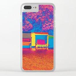 """"""" Kiwi Lifestyle"""" - Lake Tarawera Boat Sheds Clear iPhone Case"""