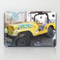 israel iPad Cases featuring 4x4 in Tel Aviv, Israel by Philippe Gerber