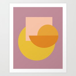 Shapes and Colors 53 Art Print