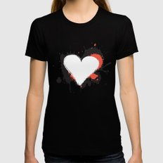 I Heart Live Art Womens Fitted Tee Black MEDIUM