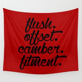 flush offset camber fitment v3 HQvector Wall Tapestry