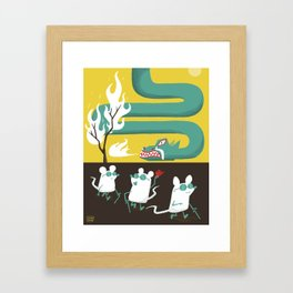 Three Blind Mice and the Dragon Framed Art Print
