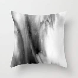 Black and White Distortion Throw Pillow
