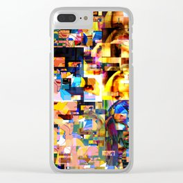 Lindsay-Alice-Court-Glitch Clear iPhone Case