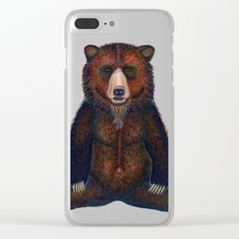 Blissed Out Bear Clear iPhone Case