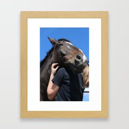 A Horse and His Girl Framed Art Print
