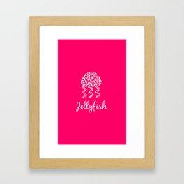 Jellyfish Pink Framed Art Print