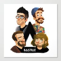 bastille Canvas Prints featuring Bastille  by Murray