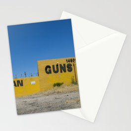 SELL LOAN GUNS GOLD  Stationery Cards