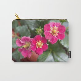 Purple strawberry flowers Carry-All Pouch