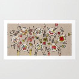 Generations Dinner Art Print