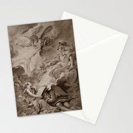 "Follower of François Boucher ""An allegorical subject, possibly the Triumph of Minerva"" Stationery Cards"