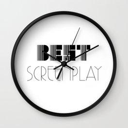 Hollywood Awards Season: Best Screenplay Wall Clock