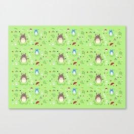Ghibli pattern Canvas Print