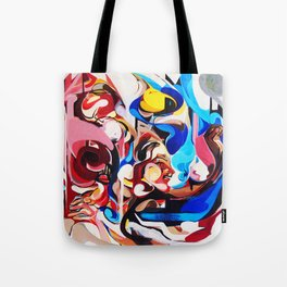 Expressive Abstract People Composition painting Tote Bag
