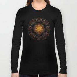 """Warm light Moroccan lantern Mandala"" Long Sleeve T-shirt"