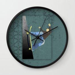 Skateboard 4 Wall Clock
