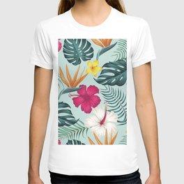 Hawaiian Dream in Fuschia and Aqua T-shirt