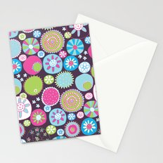 Doodle flowers2 Stationery Cards