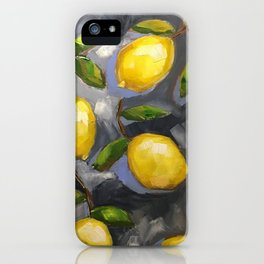Lemons on Blue iphone cover iPhone Case