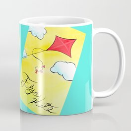 Let's Go Fly a Kite painting Coffee Mug