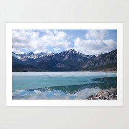Spring Reflections Landscape Art Print