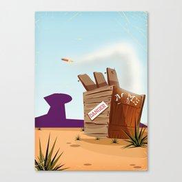 acme rocket crate Canvas Print
