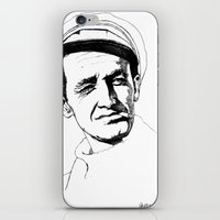 springsteen iPhone & iPod Skins featuring Woody Guthrie by Paul Nelson-Esch Art