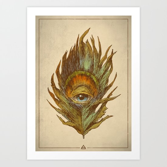 peacock feather-eye Art Print