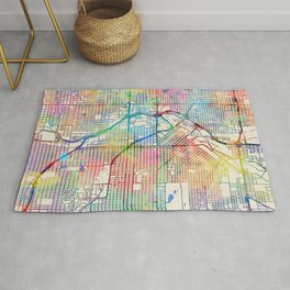 Denver Colorado Street Map Rug