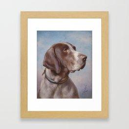 Carl Reichert , Hundeportrait Framed Art Print