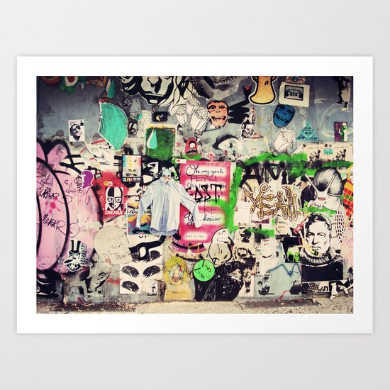 Berlin Street Art Wall Art Print