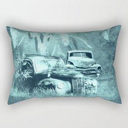 cars and butterflies in moonlight Rectangular Pillow