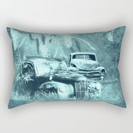 cars and butterflies in moonlight Rectangular Pillow
