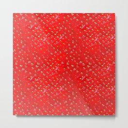 Juicy strawberries pattern Metal Print