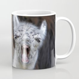 Young Lama with a big mouth | Junges Lama mit grosser Klappe Coffee Mug