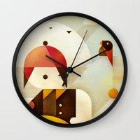 birdman Wall Clocks featuring Birdman by Squizzato