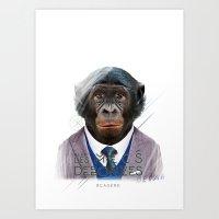 Gorille Art Print
