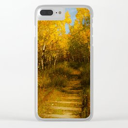 Old Spur Line Clear iPhone Case