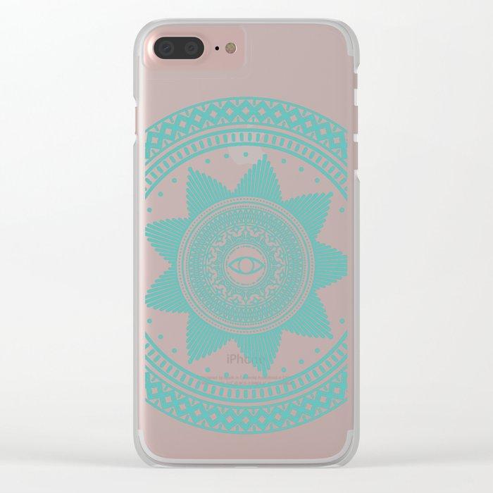 Eye of Protection Mandala Clear iPhone Case