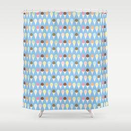 Ice Cream Cones Shower Curtain