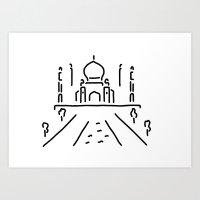 taj mahal India agra Art Print