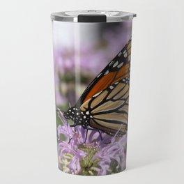 Monarch and Bee Balm Travel Mug