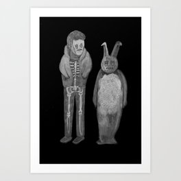 Zombies in my backyard: Donnie Darko Art Print
