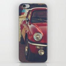 Fine art print, classic car, red, triumph, beach, italy, interior design, old car, still life, decor iPhone & iPod Skin