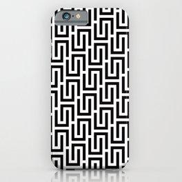 Geometric Pattern 140 (black white) iPhone Case