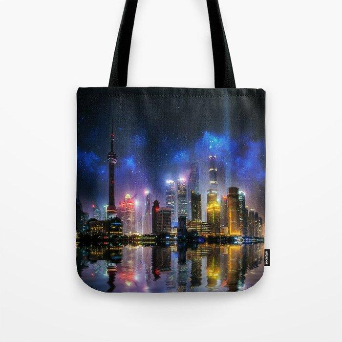 Shanghai Skyline Tote Bag