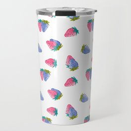 Watercolor Strawberry Toss Travel Mug